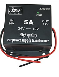 cheap -JD1205 DC 24V to 12V Car Power Supply Converter - Black