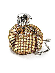 cheap -Women Bags Nylon Metal Evening Bag Crystal Detailing for Event/Party Summer Gold Black Silver Coffee