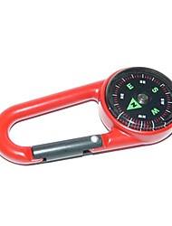 baratos -Outdoor portátil liga de zinco Compass - Red
