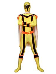 baratos -Power Rangers Soldado/Guerreiro Fantasias de Cosplay Cosplay de Filmes Collant/Pijama Macacão Dia Das Bruxas Ano Novo Licra