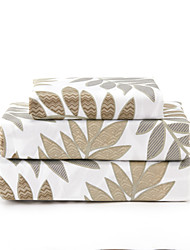 Comfortable Microfibre Sheet Set Plain Leaf