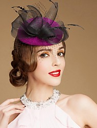 cheap -Gemstone & Crystal / Wool Fascinators / Hats / Headpiece with Crystal 1 Wedding / Special Occasion / Party / Evening Headpiece