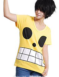 abordables -Inspirado por One Piece Monkey D. Luffy Animé Disfraces de cosplay Tops Bottoms Cosplay Estampado Camiseta Para Hombre