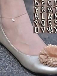 Недорогие -shixin® сладкий простую цепь с английского алфавита женщин сплава золота босиком сандалии (27см * 2 см * 2 см) (1 шт)