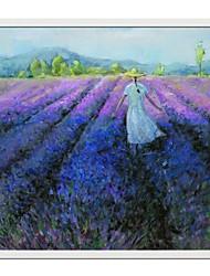 economico -paesaggio lavanda campo incorniciato pittura a olio decorazione domestica