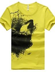 billige -Herre-Dyr Trykt mønster Chic & Moderne T-shirt