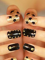 100PCS 3x3mm triángulo Nail Art Insignia de Oro Plata Rivet (colores surtidos)