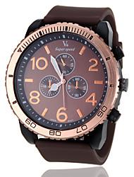 cheap -V6® Men's Military Style Gold Case Rubber Band Quartz Wrist Watch (Assorted Colors) Cool Watch Unique Watch