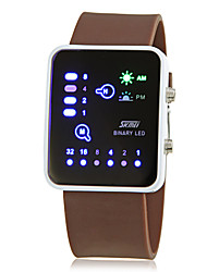 cheap -Men's Creative Binary Display LED Digital Silicone Band Wrist Watch (Assorted Colors) Cool Watch Unique Watch