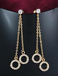 Incredibile in ottone placcato oro con Cubic Zirconia donna lampadario Orecchini (più colori)