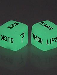 economico -Glow-in-the-dark Dice giocattolo di Lover (2 PCS)