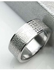 cheap -Men's Stainless Steel Band Ring - Cross For Christmas Gifts Daily Casual