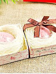 Presente de casamento Mini Transparente Egg Pássaro Sabonete 29g