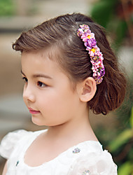 cheap -Crystal Fabric Paper Tiaras Headbands Flowers 1 Wedding Special Occasion Party / Evening Headpiece
