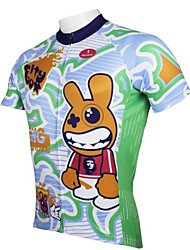 cheap -ILPALADINO Men's Short Sleeve Cycling Jersey Rabbit / Bunny Bike Jersey, Quick Dry, Spring, 100% Polyester / Breathable / Ultraviolet Resistant / Breathable
