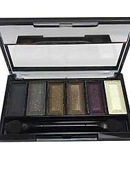 cheap -6 Eyeshadow Palette Wet Eyeshadow palette Powder Normal Daily Makeup / Smokey Makeup