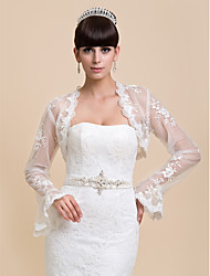 Wedding  Wraps Coats/Jackets Long Sleeve Lace White Wedding / Party/Evening / Casual Bell Sleeves Open Front