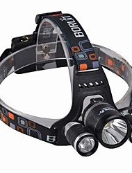 Headlamps LED 3000 Lumens 4 Mode Cree XM-L T6 Batteries not included Impact Resistant Rechargeable Waterproof for Camping/Hiking/Caving