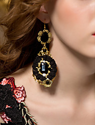 Gorgeous legering med Resin og imiteret perle Kvinders øreringe