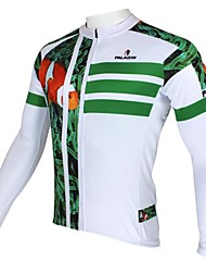 ILPALADINO Maillot de Ciclismo Hombre Manga Larga Bicicleta Camiseta/Maillot Top Mantiene abrigado Secado rápido Resistente a los UV