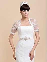 Short Sleeves Lace Wedding Party Evening Casual Wedding  Wraps Shrugs