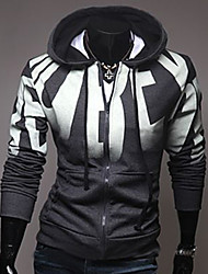 Masculino Jacket Hoodie Casual Simples Letra Manga Comprida Outono