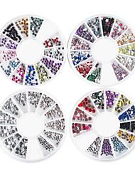 ieftine -4 pcs Strălucire Nail Art Kit Bijuterie unghii Încântător nail art pedichiura si manichiura Desen animat / Punk / Nuntă / Teracotă / Unghiul de bijuterii