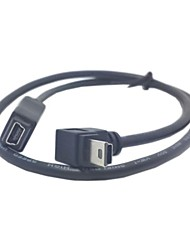 GPS Mini USB 5Pin 90 Degree Down Direction Angled Male to Female extension cable 50cm