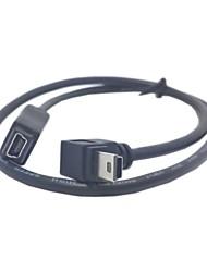 preiswerte -GPS-Mini-USB-5Pin 90 Grad unten Richtung abgewinkelt männlich zu weiblich Verlängerungskabel 50cm