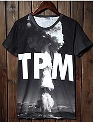 preiswerte -Herrn Druck Buchstabe-Schick & Modern T-shirt