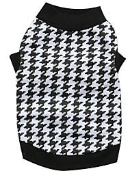 preiswerte -Katze Hund T-shirt Hundekleidung Schwarz/Weiß Baumwolle Kostüm Für Haustiere