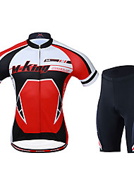 cheap -Mysenlan Men's Short Sleeves Cycling Jersey with Shorts - Red Bike Shorts Jersey Clothing Suits, Quick Dry, Breathable, Spring Summer