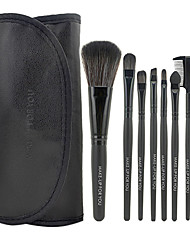 Make-up For You® 7pcs Makeup Brushes set Limits bacteria Black Eyeshadow/Blush/Lip Brush Eye Brow Brush Makeup Kit Cosmetic Brushes Tool set