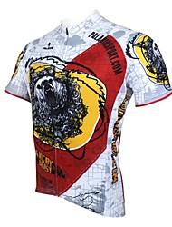 baratos -ILPALADINO Homens Manga Curta Camisa para Ciclismo Desenho Animado Moto Camisa / Roupas Para Esporte, Secagem Rápida, Resistente Raios