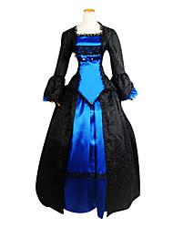 abordables -Victorien / Epoque Médiévale Costume Femme Robes / Costume de Soirée / Bal Masqué Vintage Cosplay Dentelle / Polyester Manches Longues Lolita Déguisement d'Halloween