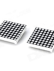 24pin di plastica 8 x 8 LED rosso / Moduli Matrix Light Green - Black + White (2 PCS)