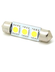 cheap -Festoon Car White 1W SMD 5050 5800-6300 Reading Light License Plate Light Door lamp