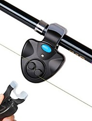 Bite Alarm / Fishing alarm Rod Electronic LED Light Sound Alarm Alert Bell Clip On BlacK