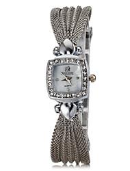 abordables -Diamante Plaza de la Mujer Dial Mash Steel Band reloj pulsera de cuarzo analógico (colores surtidos)
