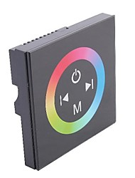 cheap -TM08  LED RGB Touch Panel Controller for Single Color LED Strip-Black (DC12-24V Input,Max 4A*3channel Output)