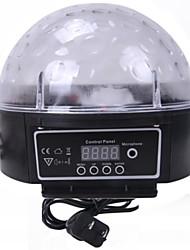 Недорогие -beyondtek дискотека диджей сценического освещения цифровой LED RGB кристально магический шар света лампы с панели управления (AC100V-240V)