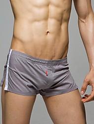 Sexy Boxer Shorts Roupa interior do algodão dos homens