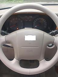 Xuji ™ Preto Couro cobertura de volante para 2004-2008 Hyundai Sonata Sonata 5