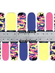 billige -28 pcs 3D Negle Stickers Smuk Negle kunst Manicure Pedicure Abstrakt / 3D Nail Stickers