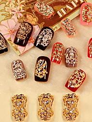 billiga -5PCS Zircon Diamant dubbad Nail Art Dekorationer Riches And Honour (Blandade Mönster)