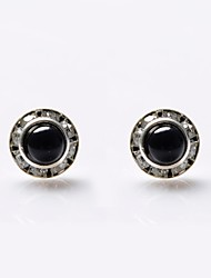 Women's Stud Earrings Luxury Pearl Crystal Imitation Pearl Rhinestone Imitation Diamond Black Pearl Jewelry For Wedding Party Daily