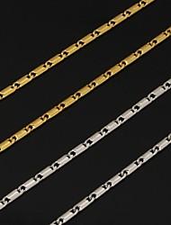 abordables -Mujer Collares de cadena - Chapado en Plata, Chapado en Oro Moda Plata, Dorado Gargantillas Para Boda, Fiesta, Diario
