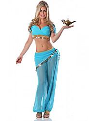 Da principessa Fiabe Costumi Cosplay Vestito da Serata Elegante Donna Halloween Carnevale Feste/vacanze Costumi Halloween Blu Tinta unita