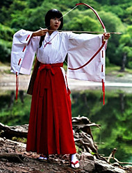Inspired by InuYasha Kikyo Anime Cosplay Costumes Cosplay Suits Kimono Solid Long Sleeve Top Pants For Female