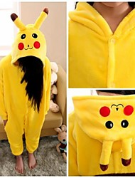 kigurumi Pyjamas Pika Pika Collant/Combinaison Fête / Célébration Pyjamas Animale Halloween Jaune Couleur Pleine Kigurumi Pour Enfant